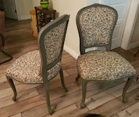 Set of four cream and brown dining chairs  Vancouver, V6G