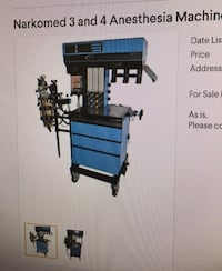 blue and black Narkomed 3 and 4 Anesthesia machine