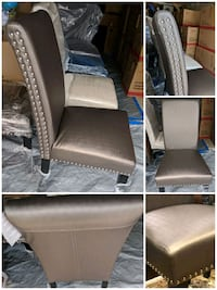 Brand New Brown pleather chairs. $120 each.  Markham