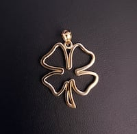 10k Yellow Gold Clover Leaf Pendant Burnaby