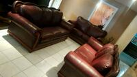 Set of genuine leather couches