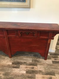 Oriental style wooden alter double-drawer table Los Angeles, 90049