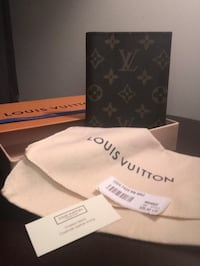 Authentic Louis Vuitton Monogram passport cover 44 km