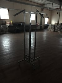 Silver Clothing Racks (4 placements/sides) (50 available) Hollidaysburg, 16648