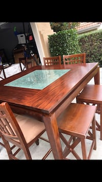Counter height table & chairs/stools Vista, 92083