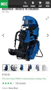Baby's blue and black travel system screenshot Ayr