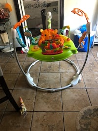 green and white Fisher-Price jumperoo El Paso, 79907
