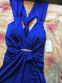 women's blue sleeveless dress Spruce Grove, T7X