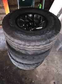 Jeep Wrangler Tj  rims 31x10.50r15 (tires need to be replaced) 5x 4.5 (4rims) Anaheim, 92806