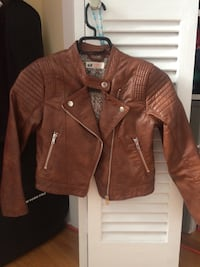brown leather zip-up jacket Beauharnois, J6N 1T1