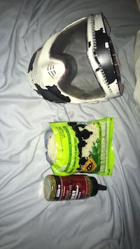 Paintball/air soft face mask, barely used 5000 round bag of air soft bb, barely used 2000 airsoft bbs...if you wanna buy anything separate just ask Hartford, 57033