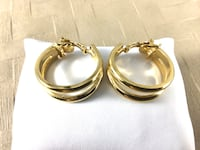 Trifari Clip-on double hoop Earrings, excellent condition Chesapeake, 23320