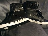 Black leather high top sneakers Dilliner, 15327