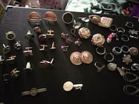 Vintage cuff links, earings and rings Avondale
