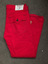 True Religion Chili Ruby Red denim jeans