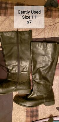 brown leather zip-up boots Phenix City, 36869