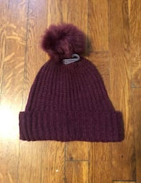 Women's Hat with fur ball paid $12 originally new!