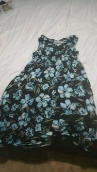 black and gray floral sleeveless dress Woodbridge, 22193