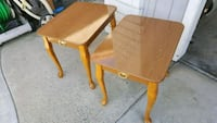 two brown wooden side tables Anaheim, 92806