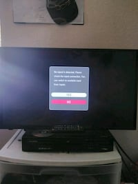 Roku Smart 32in black flat screen TV with remote Tulare, 93274