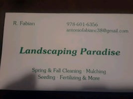 Lanscaping paradise business card