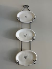 Wall Decor Plates and Holder