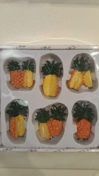 Pineapple Refrigerator Magnet Set (new) Millcreek, 84117