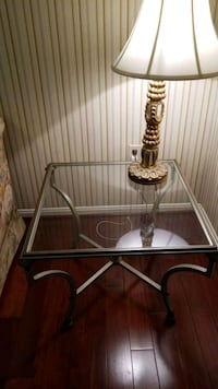 Iron Glass End Tables with Antique Brass Falls Church, 22043
