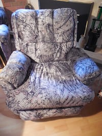 gray and blue floral sofa chair Toronto