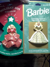 Barbie holiday pins Woonsocket