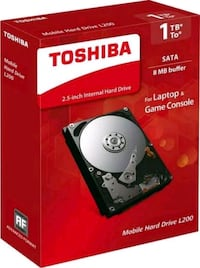 Toshiba Sabit disk 1TB HDD + 8GB SSD Solid State H Ergene Mahallesi, 35040