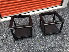 Black wooden end tables WITHOU glass