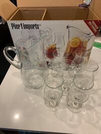 7 piece sangria pitcher and glasses