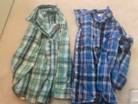 Boys button down long sleeved shirts
