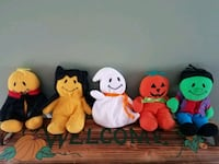 Set of 5 Halloween Bean Bag Plush Dolls Clinton, 01510