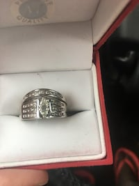 silver and diamond ring in box MEMPHIS
