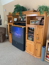 Entertainment unit includes tv