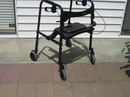 COMPACT INVACARE ROLLITE HYBRID ROLLATOR WALKER FOR SALE