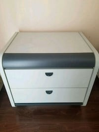 Light/Dark Grey 2-Drawer Nightstand Toronto, M1B 3R9
