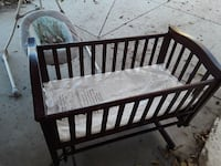 baby's brown wooden crib Livingston, 95334
