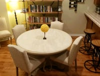 Rustic dining table & 6 chairs