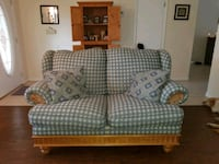 white and blue plaid fabric loveseat Leesburg, 34788