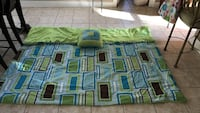 Queen reversible brown and green bedspread w pillow Mandeville, 70448