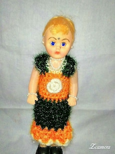 yellow haired plastic doll