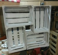 Handcrafted storage crates/attached,sanded-painted Ringgold, 30736