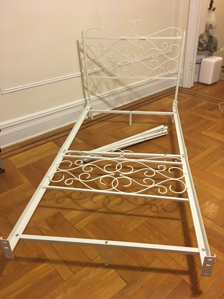 NEW- Powell white metal canopy twin bed & Used NEW- Powell white metal canopy twin bed for sale in New York ...