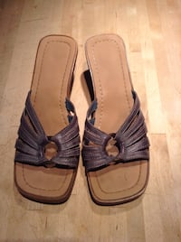 Grey Heeled Sandals - Size 6 Calgary, T3E 2S9