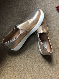 Slip on shoes rosegold,,