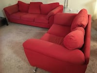 Couch big one fits 4 and small one fit 2 people super comfortable has the small unit with fixed leg Orlando, 32837