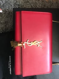 AUTHENTIC YSL Kate Medium Red with Gold Tassle New York, 10020
